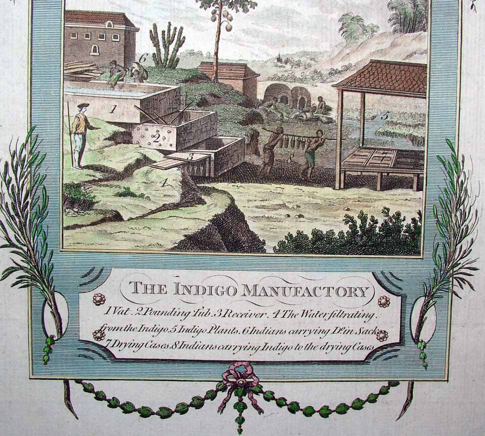 Výroba indiga, Middleton, A New and Complete System of Geography, London 1779